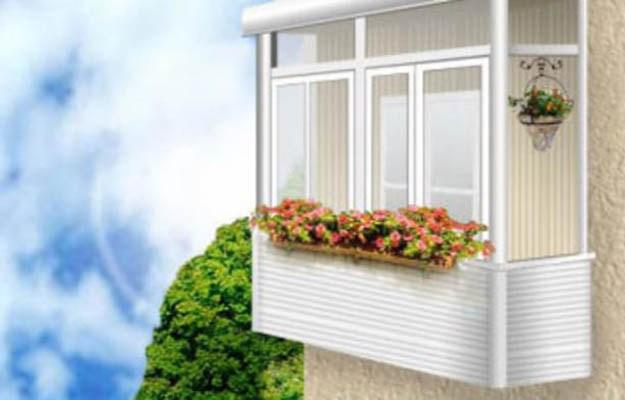 Наружная отделка балкона - остекление